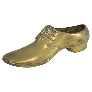 Brass Men's Shoe Paperweight For Sale