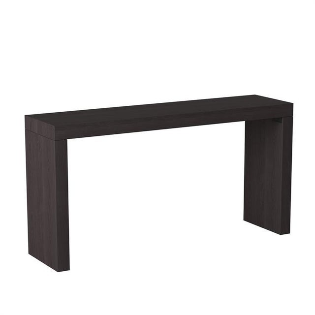 Modern Kenneth Ludwig Chicago Black Wood Grain Console Table For Sale In Chicago - Image 6 of 6