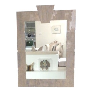 1970s Mirror Architectural Faux Stone For Sale