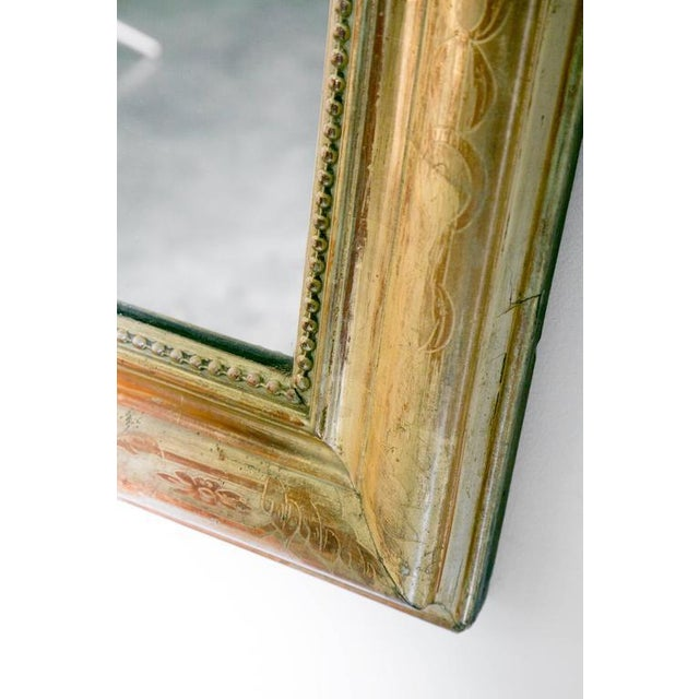 Giltwood Grand Antique French Louis Philippe Period Mirror For Sale - Image 7 of 10