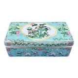 Image of 1970s Light Blue Green Chinese Porcelain Box For Sale
