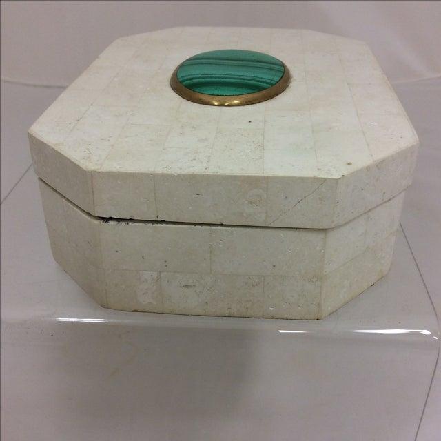 Maitland Smith Tessellated Marble & Malachite Box - Image 6 of 11