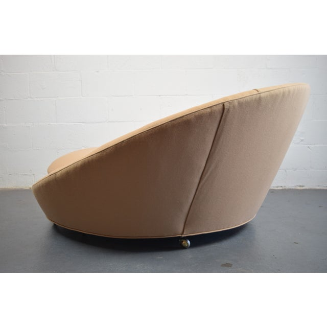 Tan Milo Baughman Round Lounger Settee For Sale - Image 8 of 11