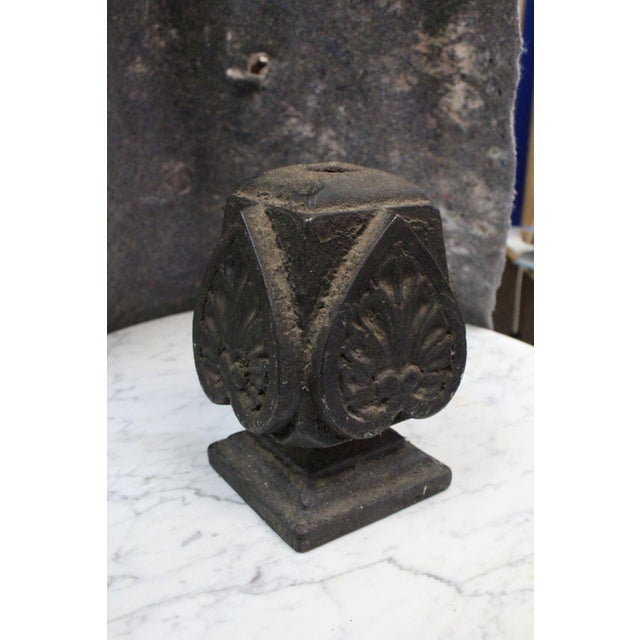 Early 20th Century Vintage Iron Finial For Sale - Image 4 of 5