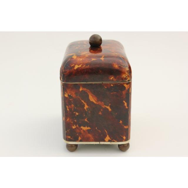 Antique Georgian Tortoiseshell Tea Caddy - Image 4 of 8