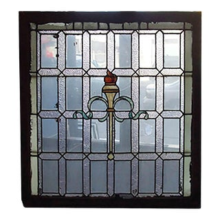 Early 20th Century Beaux Arts Style Stained Glass Window For Sale