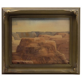 "1920s Carl Oscar Borg Western ""Canyon De Chelly ""Arizona Landscape Painting For Sale"