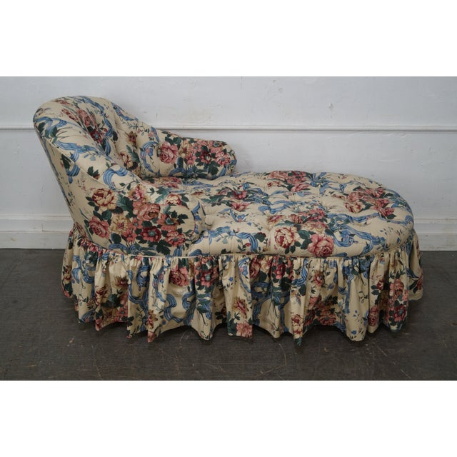 KayLyn Inc. Floral Upholstered Tufted Chaise Lounge - Image 9 of 10