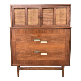 1960s Mid Century Modern Highboy by American of Martinsville For Sale