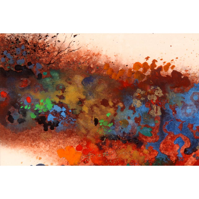 Contemporary Color Explosion Collage Abstract Painting For Sale - Image 3 of 6