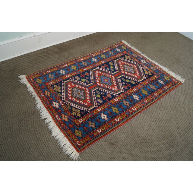 Country Quality Hand Tied Caucasian Rug - 3′7″ × 5′6″ For Sale - Image 3 of 10