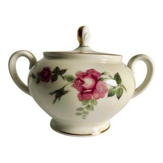 """Vintage Floral Design Rosenthal """"Aida """" Lidded Sugar Bowl For Sale"""