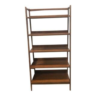 Mid Century Modern Open Bookshelf For Sale