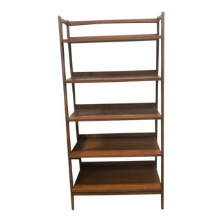 New Mid Century Modern Open Bookshelf For Sale