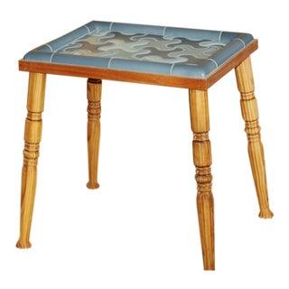 Late 20th Century Rookwood Pottery Tile Cincinnati Custom Side Table For Sale