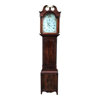 Antique Georgian English Long Case Grandfather Clock For Sale