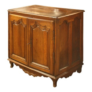 French Walnut Commode with Two Doors and Multiple Inner Drawers Circa 1870 For Sale