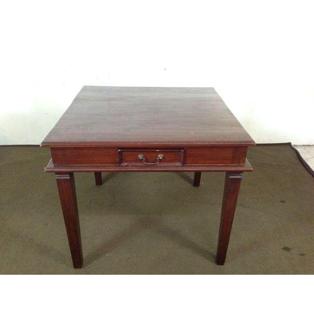 Vintage Carved Mahogany Games Table Suite - Image 5 of 6