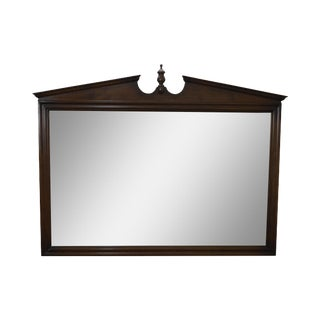 Ethan Allen Vintage Maple Hanging Wall Mirror For Sale