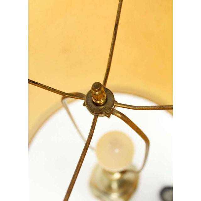 Early 20th Century Mid-Century Modern Art Nouveau Style Cast Metal Table Lamp For Sale - Image 5 of 10