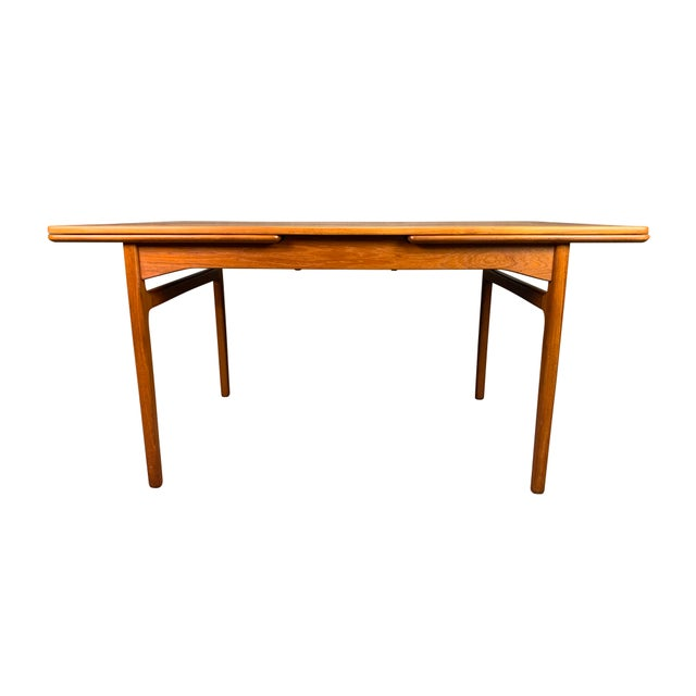 Here is a beautiful 1960's scandinavian modern dining table in teak wood recently imported from Denmark to California...