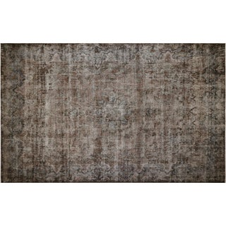 "1950s Persian Overdyed Kerman Carpet - 9'9"" X 15'9"" For Sale"