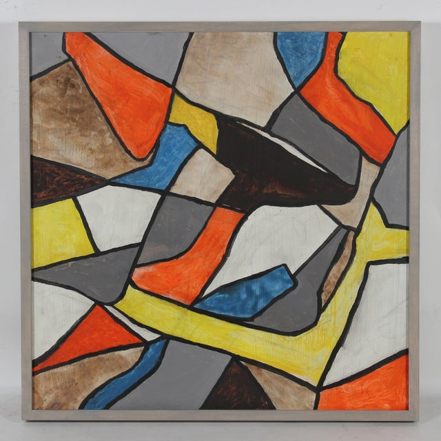 Mid Century Abstract Painting - Image 2 of 3