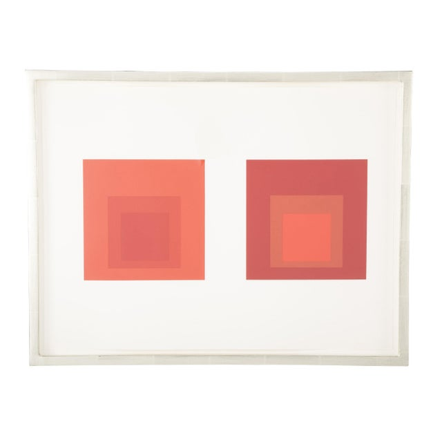 Late 20th Century Josef Albers Homage to the Square in Red Print For Sale - Image 5 of 5