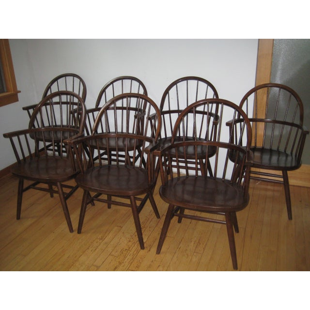 Brown Mid-Century Boling Chairs - Set of 7 For Sale - Image 8 of 8