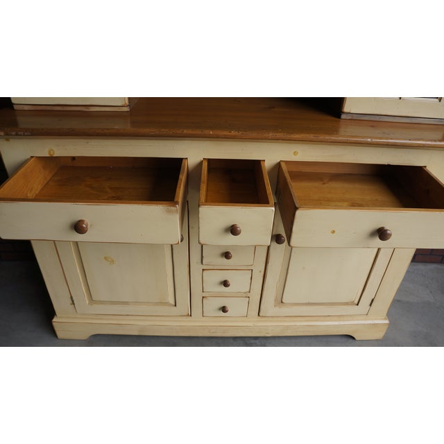 20th Century Cottage Farmhouse China Hutch For Sale - Image 6 of 11