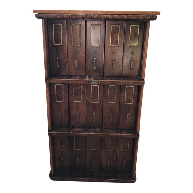 Apothecary Furniture For Sale: 1910 Antique Apothecary Cabinet
