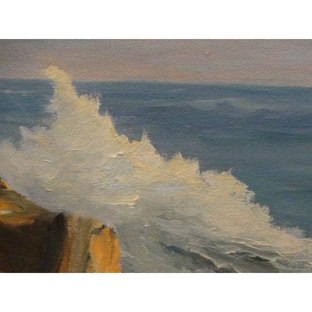 Mid Century Ocean Scene Painting - Image 7 of 10
