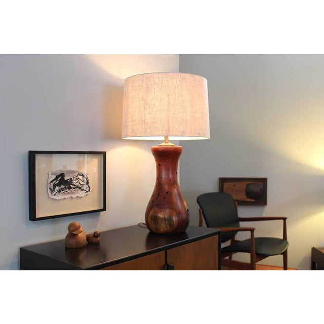 Hand-Crafted Mesquite Wood Lamp - Image 8 of 10