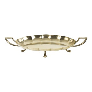 1950s Dirilyte Brass Footed Tray For Sale