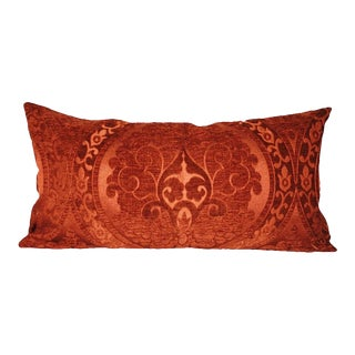 Fire Chenille Lumbar Pillow