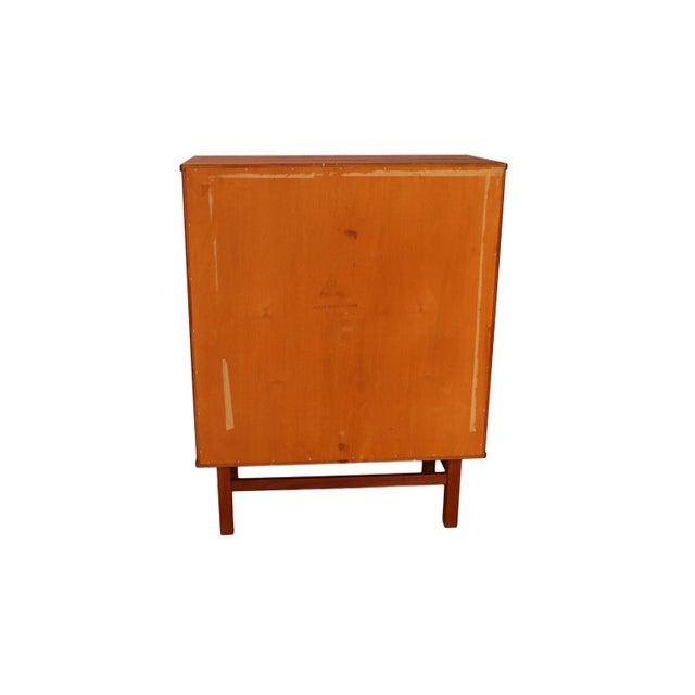 Mid Century Modern Nils Jonsson for Hjn Mobler Danish Teak Tall Dresser Highboy For Sale - Image 9 of 11