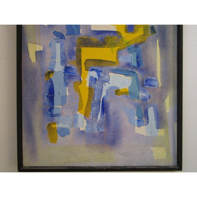 Expressionism Vintage Abstract Expressionism Painting Non Objective Art Pop Expressionist MCM For Sale - Image 3 of 7