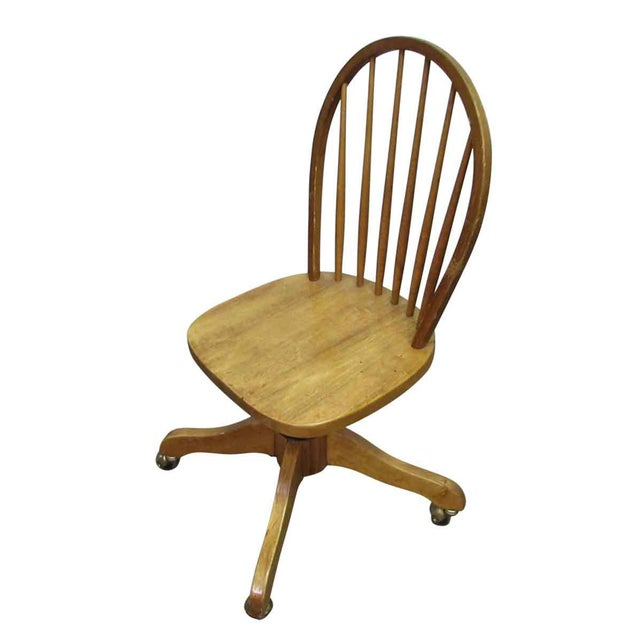 Windsor Chair on Casters For Sale - Image 6 of 9
