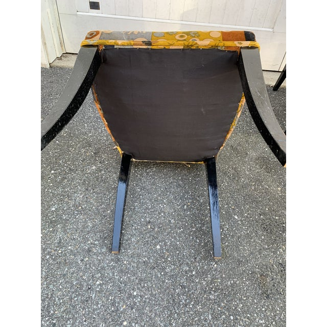 Jack Lenor Larsen Velvet Dining Chairs - Set of 4 For Sale - Image 11 of 12