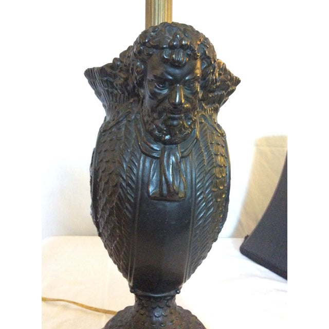Stone Basalt Urn Modified Custom Lamp For Sale - Image 7 of 13