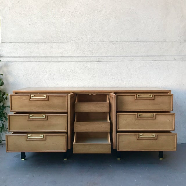 American of Martinsville Pecan Credenza For Sale In Los Angeles - Image 6 of 9
