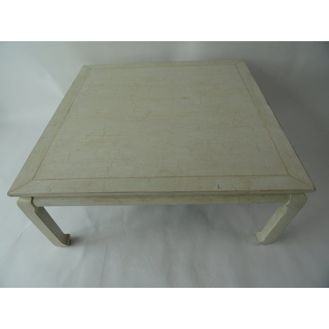 Ming style coffee table with crackled finish. Made in the late 20th century.