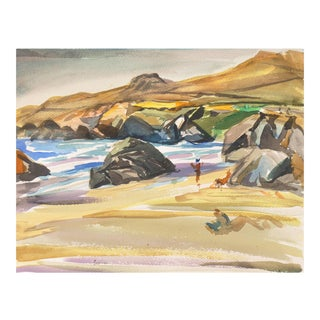 'California Beach Scene' by Eric Spencer Macky, New Zealand, Académie Chaumiere, Paris, Seattle Art Museum, For Sale