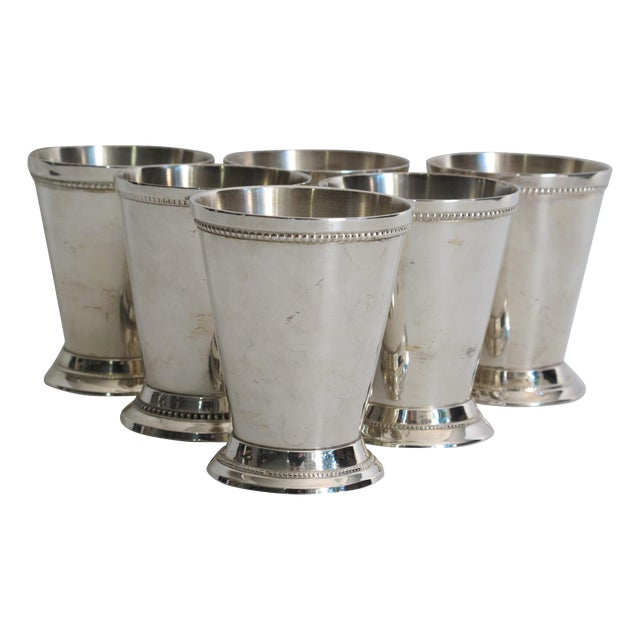Silver-plated Julep Cups - S/6 - Image 1 of 6