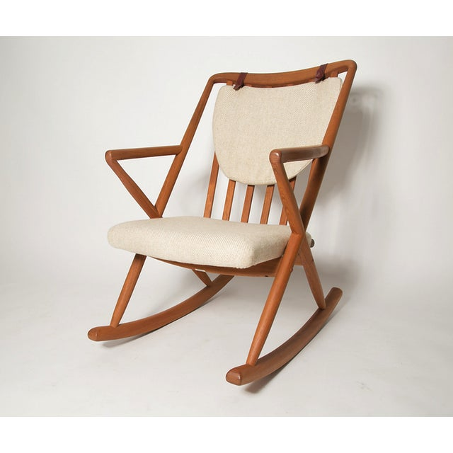 This is near mint vintage linden rocker. This was designed mid 60s by Danish design great benny a linden. These were...
