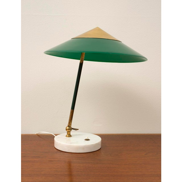 Elegant Table Lamp by Stilux Milano in Brass, Marble and Perspex. Italy, 1950s. For Sale - Image 12 of 12