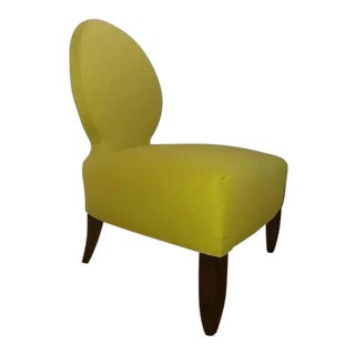 Henredon Furniture Barbara Barry Opera Slipper Accent Chair in Chloris Green For Sale