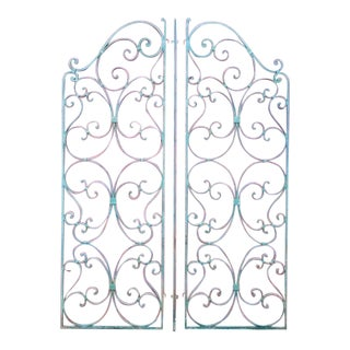 Parisian Wrought Iron Garden Gates For Sale