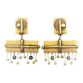 Unsigned Italian Molded Resin Earrings For Sale