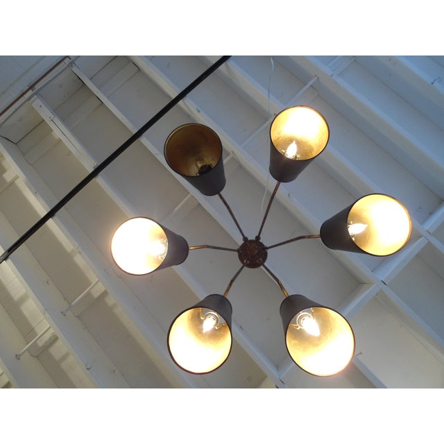 Currey & Company Wrought Iron & Metal Chandelier - Image 6 of 6